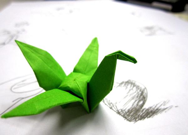 千纸鹤的折法图解 tina教你千纸鹤的折叠方法