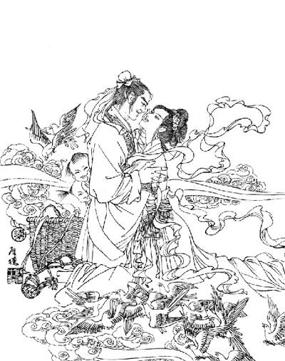 """七夕节,又叫""""乞巧节"""".俗语说:""""七月七,天上牛郎会织女."""