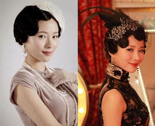 优雅的小女人,妆容依旧清新少女,但是一头民国古装发型却显得老气十足图片