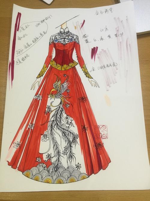 缔月下之盟——钟丽缇大婚 中式嫁衣源自谁手?