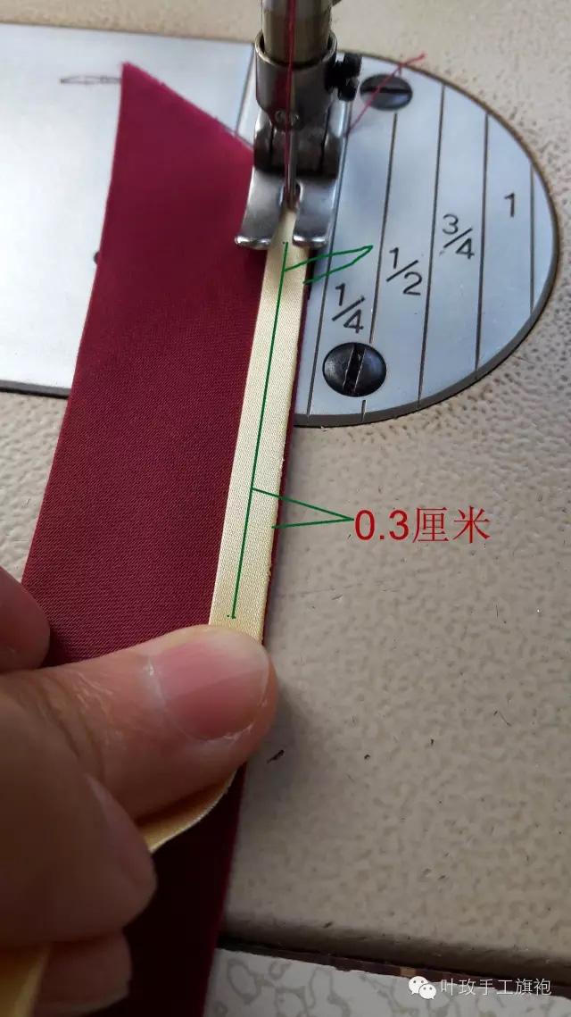 【教程】手工旗袍盘扣之双色坎牙软扣扣条制作方法