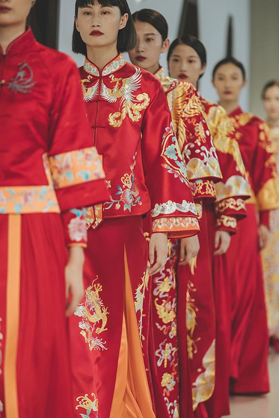 月白中式嫁衣全国加盟代理正式开启