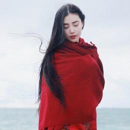 国风美人张辛苑西藏旅行写真 纳木错景美人更美