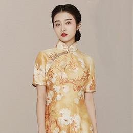 红馆原创古典优雅旗袍:兰诉香