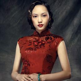 红馆2014新款旗袍: 烂花绡