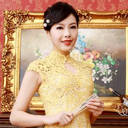 逸福蕾丝旗袍 尽显华丽美