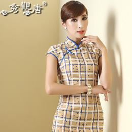秀观唐:民国风格子旗袍