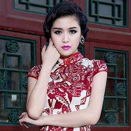 沙后所中国风旗袍:剪烛西窗