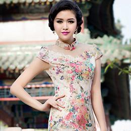 沙后所时尚蕾丝旗袍:金桂飘香