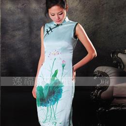 逸福优雅手绘旗袍
