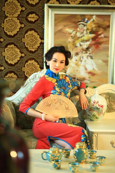 盘古王羊绒旗袍
