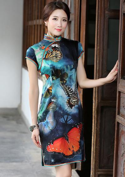 秀观唐旗袍