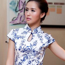荣萍复古优雅旗袍