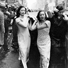 1938年华侨美女总动员募捐抗日