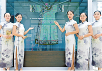 天河博物馆旗袍展  看美丽旗袍的前世今生