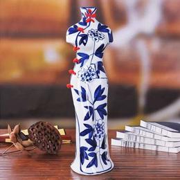 创意中国风,看旗袍与青花瓷如何完美结合!