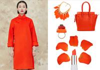 冬天流行色来袭 橘色让你明亮一整冬——旗袍篇