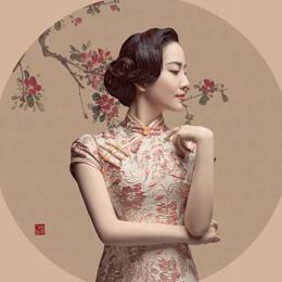 北电女生白澜变身旗袍美人 眼波含情