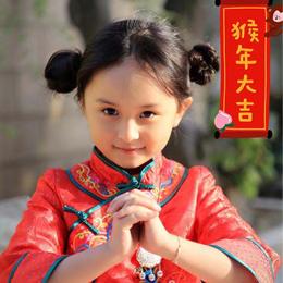 小芈月刘楚恬穿红旗袍为大家拜年 颜值逆天萌化网友
