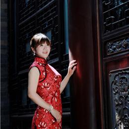 旗袍摄影:一袭红衣 诉优雅