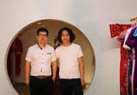 木子李受邀参观上海月白嫁衣