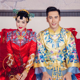 钟丽缇张伦硕大婚,花了2200小时制作的中式礼服曝光啦!