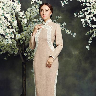 红馆 | 玉兰知 2016秋冬棉麻时尚日常修身长款旗袍