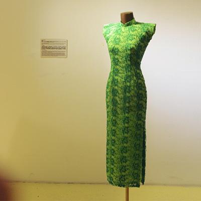 茉茉 | 绿玉 12月新品平肩小连袖蕾丝旗袍