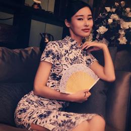 旗袍摄影:典雅的美