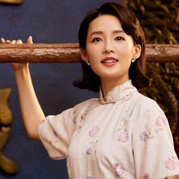 李沁饰演民国才女林徽因,这个旗袍造型有点美