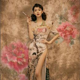 完美展现民国复古时期的女性美!戚薇的三套…